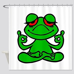 Frog Lotus Shower Curtain