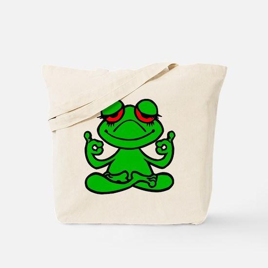 Frog Lotus Tote Bag