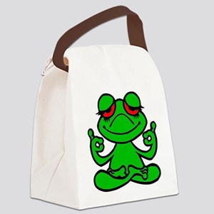 Frog Lotus Canvas Lunch Bag