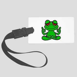 Frog Lotus Luggage Tag