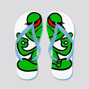 Frog Lotus Flip Flops