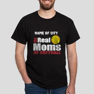 Personalize Softball Mom Dark T-Shirt