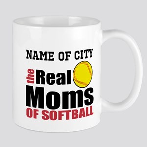 Personalize Softball Mom Mug