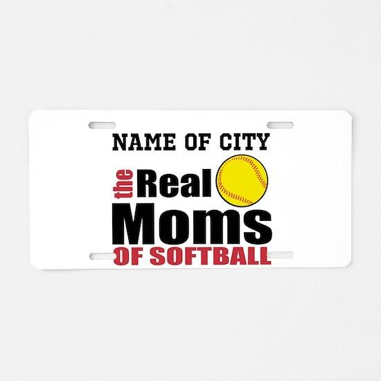 Personalize Softball Mom Aluminum License Plate