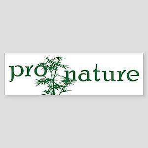 Pro Nature Graphic Bumper Sticker
