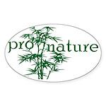 Pro Nature Graphic Oval Sticker