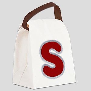 S Santa Fur Canvas Lunch Bag
