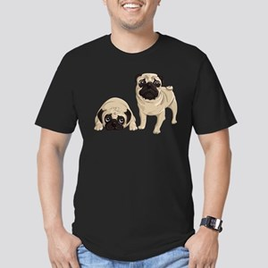 Pugs Men's Fitted T-Shirt (dark)