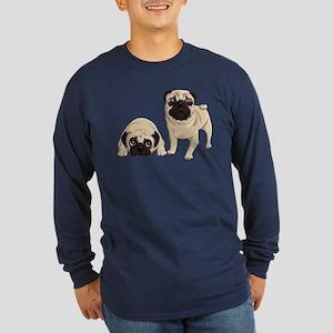 Pugs Long Sleeve Dark T-Shirt