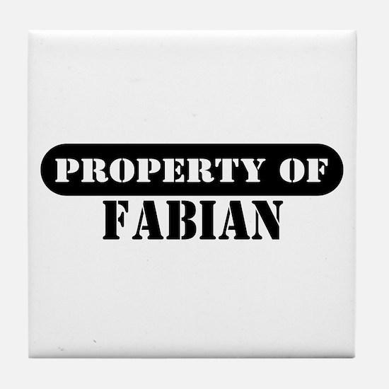Property of Fabian Tile Coaster