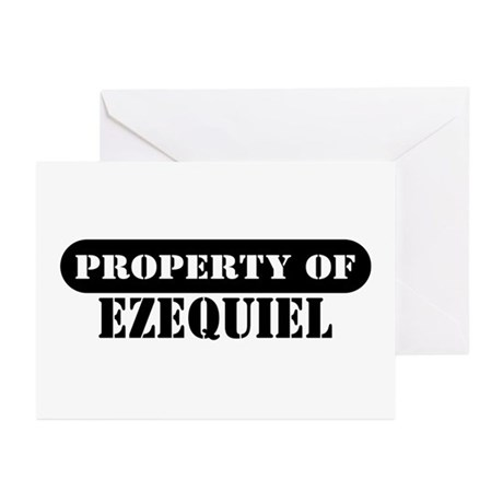 Property of Ezequiel Greeting Cards (Pk of 10)