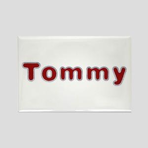 Tommy Santa Fur Rectangle Magnet