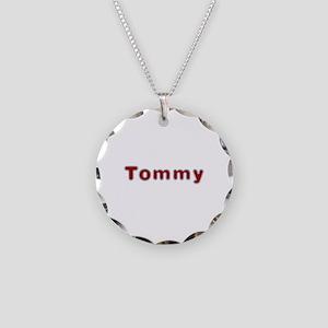 Tommy Santa Fur Necklace Circle Charm