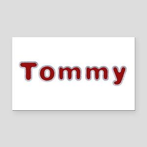 Tommy Santa Fur Rectangular Car Magnet