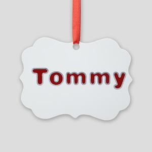 Tommy Santa Fur Picture Ornament