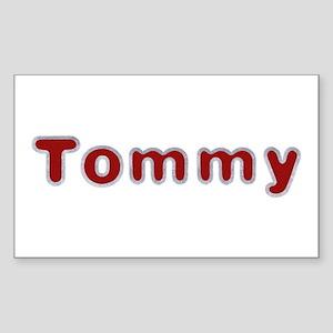 Tommy Santa Fur Rectangle Sticker