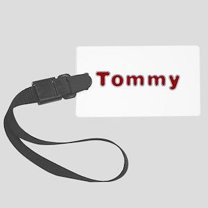 Tommy Santa Fur Large Luggage Tag