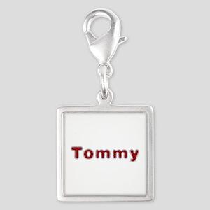 Tommy Santa Fur Silver Square Charm