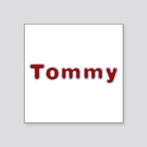 Tommy Santa Fur Square Sticker