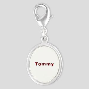 Tommy Santa Fur Silver Oval Charm