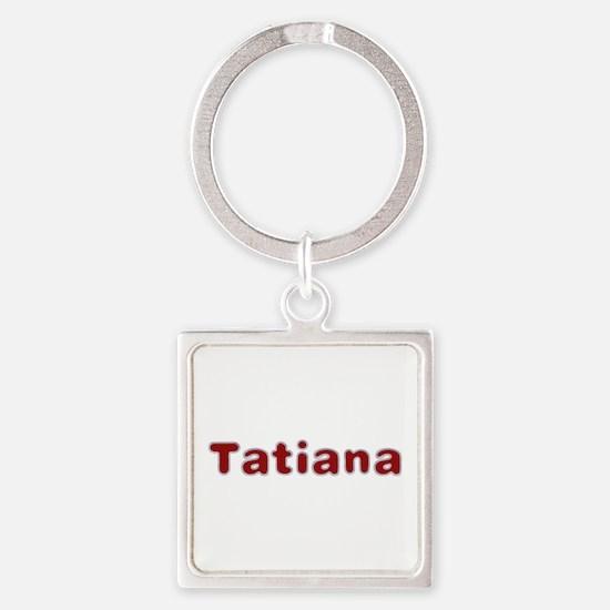 Tatiana Santa Fur Square Keychain