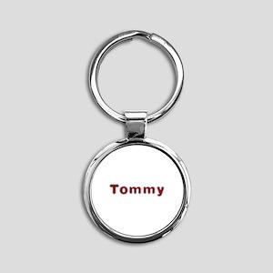 Tommy Santa Fur Round Keychain