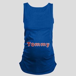 Tommy Santa Fur Maternity Tank Top