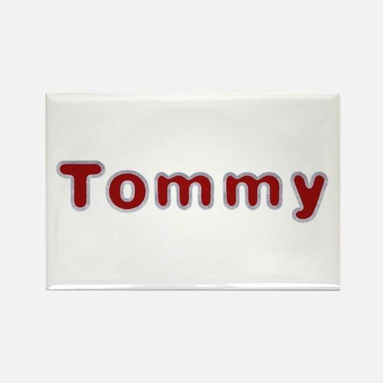 Tommy Santa Fur Rectangle Magnet 100 Pack