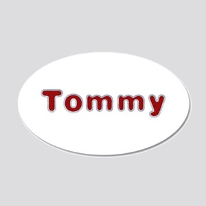 Tommy Santa Fur 20x12 Oval Wall Decal