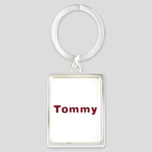 Tommy Santa Fur Portrait Keychain