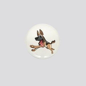 Cartoon German Shepherd Mini Button