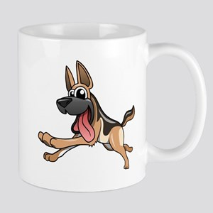 Cartoon German Shepherd Mugs