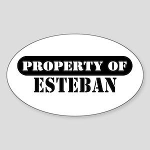 Property of Esteban Oval Sticker