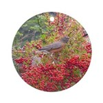 Robins Ornament (Round)