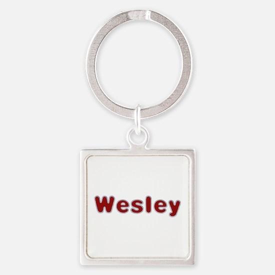 Wesley Santa Fur Square Keychain