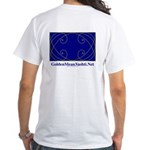 Four Spirals Economy White T-Shirt , Image on Back