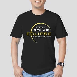 Total Solar Eclipse 2017 Men's Fitted T-Shirt (dar