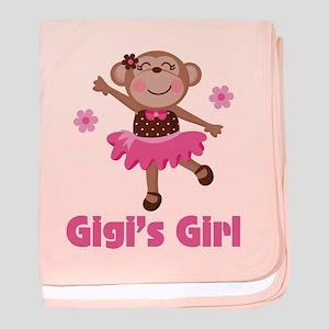 Gigi's Girl monkey baby blanket