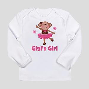 Gigi's Girl monkey Long Sleeve Infant T-Shirt