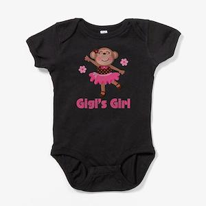 Gigi's Girl monkey Baby Bodysuit