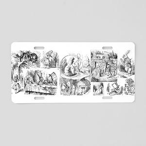 Alices Adventures in Wonderland Aluminum License P