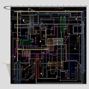 Assimilated Trekkie Decor Shower Curtain