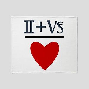 Gemini + Capricorn = Love Throw Blanket