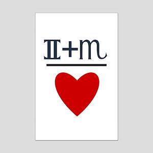 Gemini + Scorpio = Love Mini Poster Print