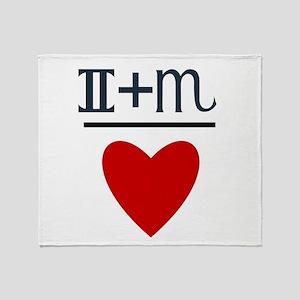 Gemini + Scorpio = Love Throw Blanket