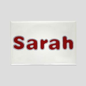 Sarah Santa Fur Rectangle Magnet