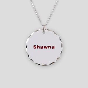Shawna Santa Fur Necklace Circle Charm