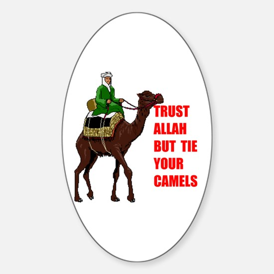 TRUST ALLAH Oval Decal