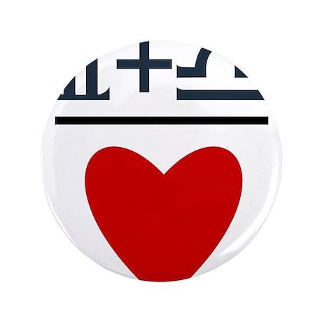 "Gemini + Libra = Love 3.5"" Button (100 pack)"