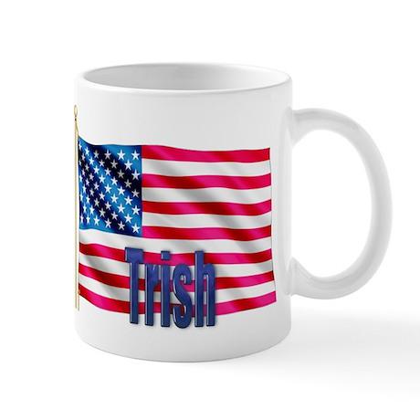 Trish American Flag Gift Mug